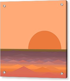 Acrylic Print featuring the digital art South Sea Sunrise by Val Arie