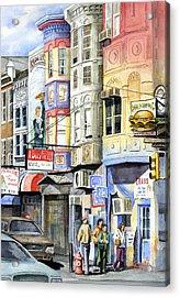 South Street Acrylic Print by Sam Sidders