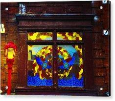 South Street Window Acrylic Print by Bill Cannon