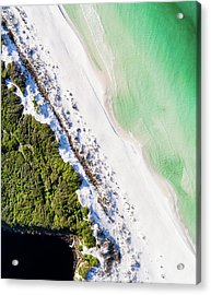South Walton Dune Barrier Aerial Acrylic Print