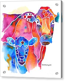 South West Cow And Calf Acrylic Print