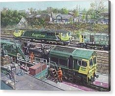 Southampton Freightliner Train Maintenance Acrylic Print