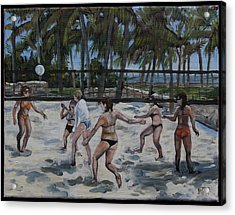 Southbeachvolley Acrylic Print