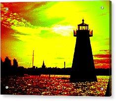 Southcoast Silhouette  Acrylic Print