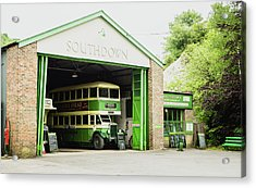 Southdown Bus Acrylic Print by Angela Aird