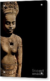Acrylic Print featuring the photograph Southeast Asian Spiritual Statue - Cambodia by Louise Fahy