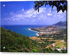 Southeast Coast Of Puerto Rico From Panoramic Route 901 Acrylic Print by Thomas R Fletcher