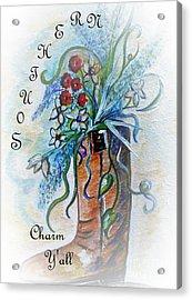 Southern Charm Y'all Acrylic Print by Eloise Schneider