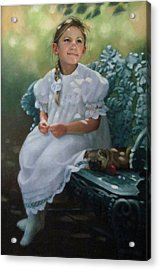 Southern Girl Portrait Acrylic Print by Janet McGrath