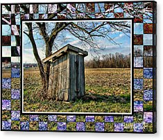 Southern Indiana Outhouse Acrylic Print by Julie Dant