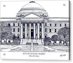 Southern Methodist University Acrylic Print