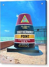 Southern Most Point Florida Keys Acrylic Print