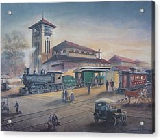 Southern Railway Acrylic Print by Charles Roy Smith
