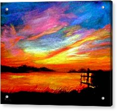 Southern Sunset Acrylic Print by Gail Kirtz