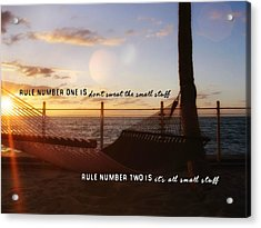 Southernmost Quote Acrylic Print by JAMART Photography