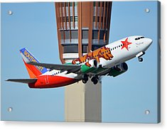 Southwest Boeing 737-3h4 N609sw California One Phoenix Sky Harbor January 21 2016 Acrylic Print by Brian Lockett
