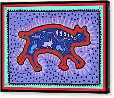 Acrylic Print featuring the digital art Southwest Desert Feral Cat by Vagabond Folk Art - Virginia Vivier