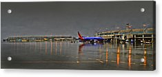 Southwest Plane In The Rain Acrylic Print