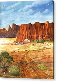 Acrylic Print featuring the painting Southwest Red Rock Ranch by Marilyn Smith