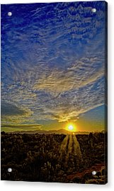 Acrylic Print featuring the digital art Southwest Sunset Op40 by Mark Myhaver