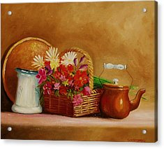 Acrylic Print featuring the painting Southwest Table by Gene Gregory