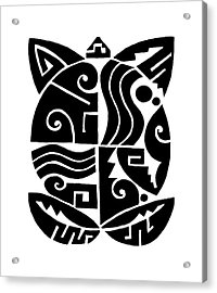 Acrylic Print featuring the digital art Southwest Tribal Tortuga by Vagabond Folk Art - Virginia Vivier