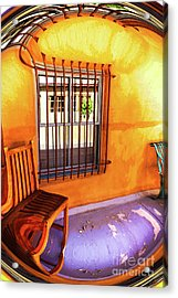 Southwestern Porch Distortion With Puple Floor Acrylic Print