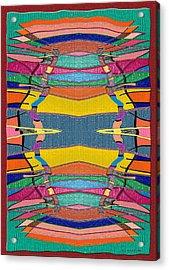 Southwestern Rug Acrylic Print by Jerry White