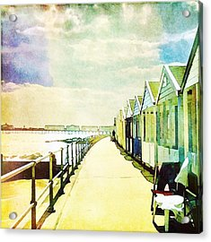 Acrylic Print featuring the photograph Southwold Beach Huts by Anne Kotan