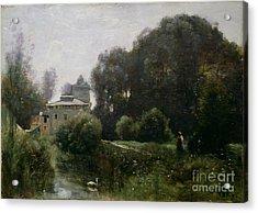 Souvenir Of The Villa Borghese Acrylic Print by Jean Baptiste Camille Corot
