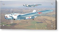 Soviet Bomber Ar-2 Of The Fortieth Years In Formation Flying Acrylic Print by Alex Arkhipau