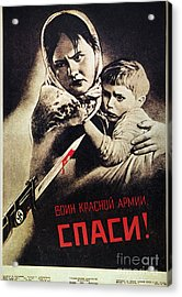 Soviet Poster, 1942 Acrylic Print by Granger