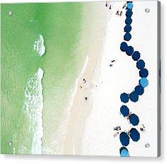Sowal Beach Umbrellas Aerial Acrylic Print