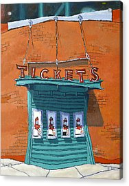 Sox Tickets Acrylic Print by Mike Gruber
