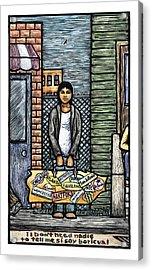 Soy Boricua Acrylic Print by Ricardo Levins Morales