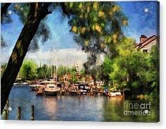 Spa Creek Acrylic Print by Lois Bryan