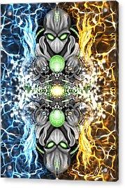 Space Alien Time Machine Fantasy Art Acrylic Print