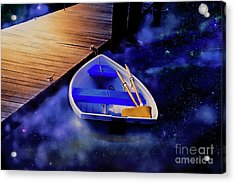 Space Boat Acrylic Print
