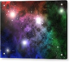 Acrylic Print featuring the digital art Space Clouds by Phil Perkins