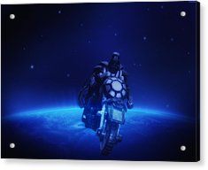 Space Cowboy Acrylic Print by Bill Cannon
