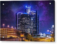 Acrylic Print featuring the photograph Space Detroit by Nicholas  Grunas