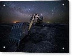 Acrylic Print featuring the photograph Space Excavator  by Aaron J Groen