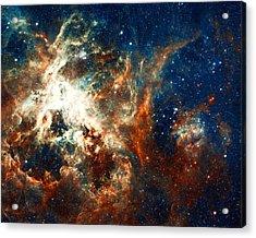 Space Fire Acrylic Print by Jennifer Rondinelli Reilly - Fine Art Photography