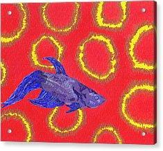 Space Fish Acrylic Print by Rishanna Finney