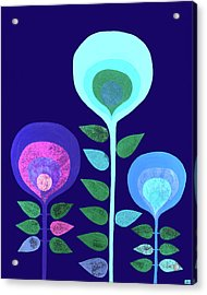 Space Flowers Acrylic Print