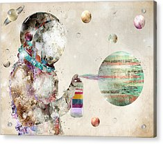 Space Graffiti Acrylic Print by Bri B