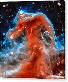 Space Image Horsehead Nebula Orange Red Blue Black Acrylic Print