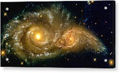 Acrylic Print featuring the photograph Space Image Spiral Galaxy Encounter by Matthias Hauser