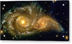 Space Image Spiral Galaxy Encounter Acrylic Print