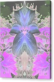 Space Lily Acrylic Print by Roxy Riou